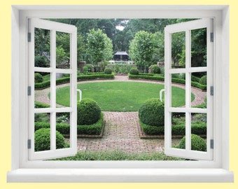Window with a View Garden Wall Mural