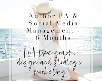 PA Assistant - Social Media Marketing Plan for Authors | Design for Authors | Book Marketing | 6 Months
