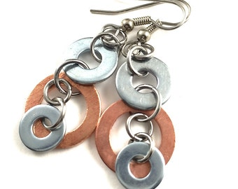 Dangle Earrings Mixed Metal Hardware Jewelry