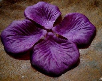 10 silk petals pattern pink violet