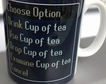 NEW Runescape Cup of Tea / Coffee Mug Cup MMO Gaming RS Computer Game Christmas Birthday Gift Present