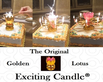 Golden Lotus Happy Birthday Exciting Candle®