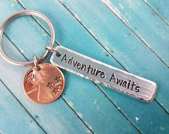 Graduation keychain, class of 2017, graduation gift, git for him, gift for her, gift for grad, high school graduation