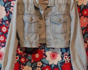1990's Women's WOOZ Cropped Denim Jean Jacket