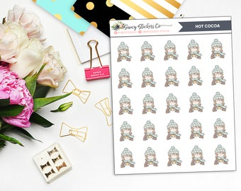 Hot Cocoa Girl Planner Stickers