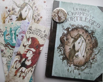 """fantasy book """"unicorns, charms and spells"""""""