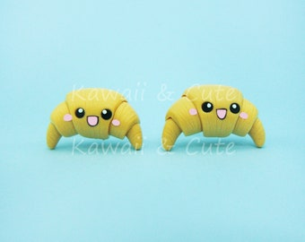 Earrings Croissant Kawaii