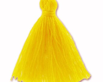 30mm Sun yellow cotton tassel