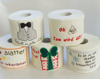 Toilet paper with small gift joke gift gift wedding Toilet roll witty
