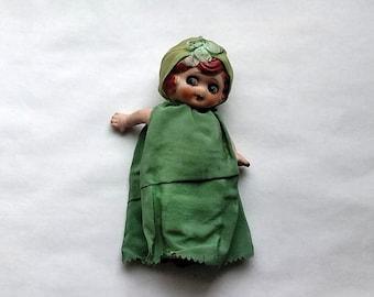 Vintage Japan Porcelain Doll, Flapper Girl Google Eyes, Betty Boop