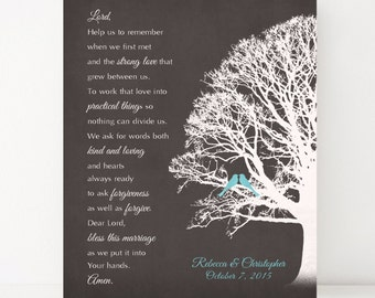 Wedding blessing prayer digital print marriage prayer
