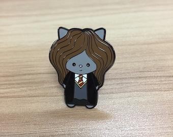 Hermeownie Enamel Pin | Cat Pin