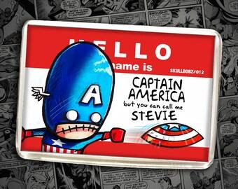 Captain America Avengers Key Ring or Fridge Magnet, Marvel Comics, Refrigerator Gift, Ironman, Thor, Hulk, Xmen, Present