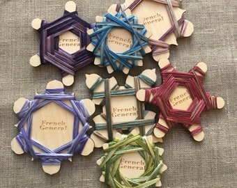 NEW! FRENCH GENERAL Set of 4 Birch Thread Floss Winders counted cross stitch embroidery quilting Sashiko bobbin