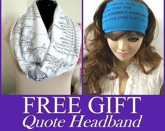 BOOK SCARVES SALE - 2 book scarves for 45 dollars, Jane Austen, Emily Dickinson, Anna Karenina, Edgar allan Poe, Dant, Shakespeare and more