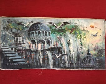 Fantastic Oil Painting, Fantasy Original Painting on Canvas by Hakan Caba