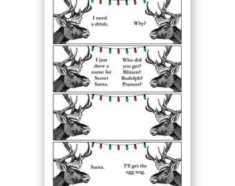 Secret Santa - Reindeer Christmas Card