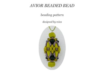 Avior Beaded Bead pattern/tutorial - pdf file for personal use only