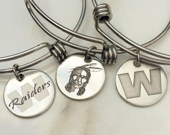 Warren HARDING Expandable Bracelet . Warren Ohio School Jewelry . WGH Raiders Warren, Ohio . Tatum Bradley