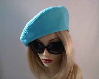 Pretty Soft Aqua Bluel Beret Style Hat