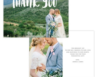 INSTANT DOWNLOAD - Thank You Photo Card Photoshop template - E1342