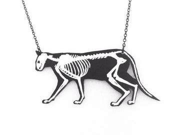 Skeletal Cat Necklace