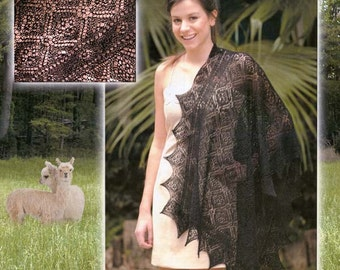 Rose Lace Wrap Pattern - paper copy only
