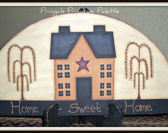 Saltbox House Wood Door Crown Primitive Topper Home Decor Decoration