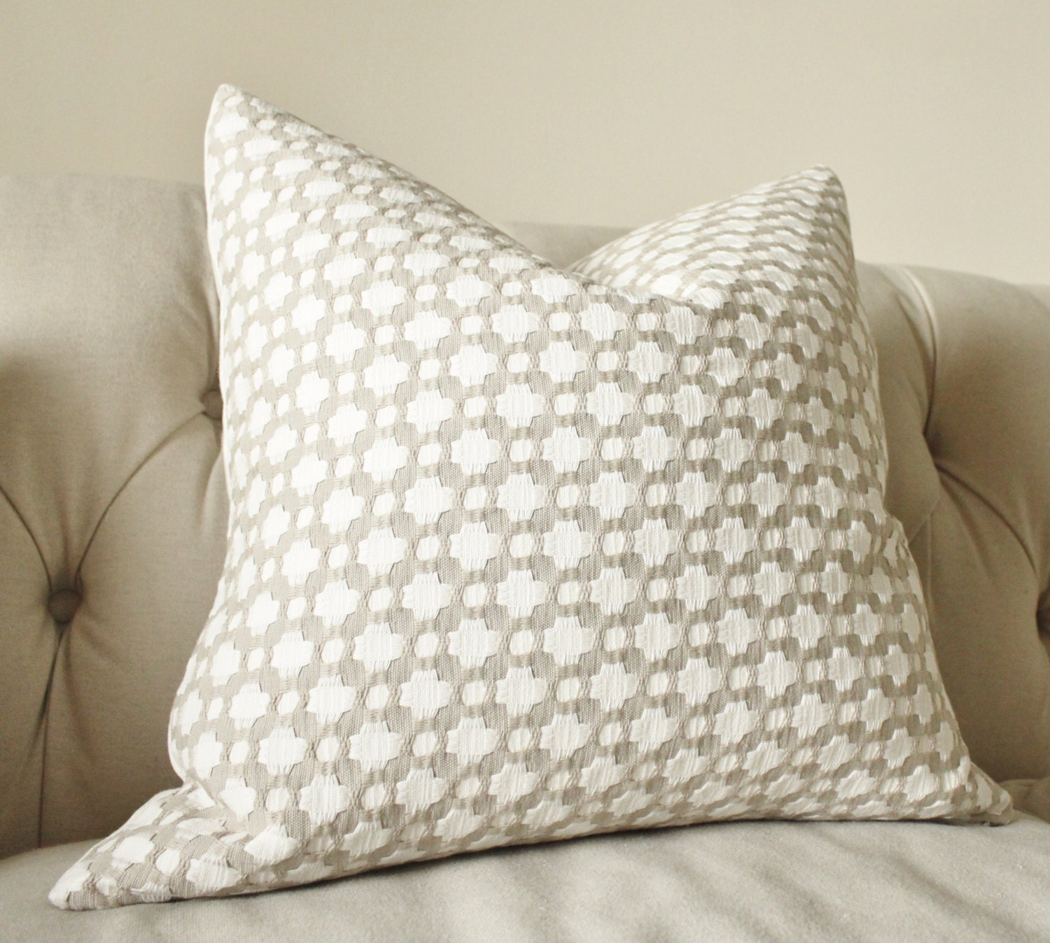 weavers products of optical pillows in burlap throw flange tweed webster white set front decorative with pillow woven