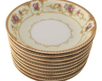 "Vintage Set of 10 ""Noritake Allure 586 "" Dessert/Berry  Bowls Replacement!"