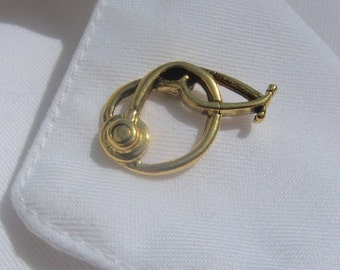 Gold Stethoscope Lapel Pin-CC517G- Nursing and Medical Pins