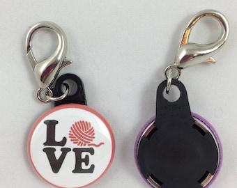 "Yarn Love - 1"" Stitch Marker"
