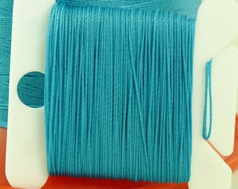 Turquoise Turq Silk Like Beaders Secret Knotting Thread Beading Stringing Sewing 20 yards Polyester