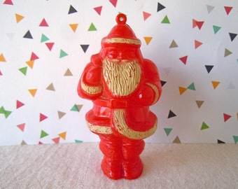 Vintage Mid Century Santa Claus Candy Cup Container and Christmas Tree Decoration