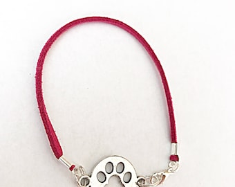 Paw Print Bracelet, Pet Memorial Bracelet, Paw Print Jewelry, Pet Memorial Jewelry, Pet Loss Gift, Cat Lover Gift, Dog Lover Gift