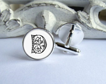 Mens Cufflinks, Monogram Cufflinks, Grooms Wedding Cufflinks