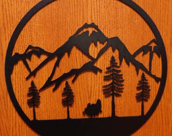 Turkey With Mountains Circle Wall Art
