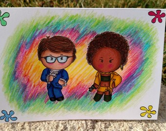 Beyonce baby card etsy austin powers card hand drawn hand made blank card baby birthday bookmarktalkfo Image collections