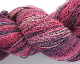 KAUNI Estonian Artistic Wool Yarn Pink Lila  8/2, Yarn for Knitting, Crochet
