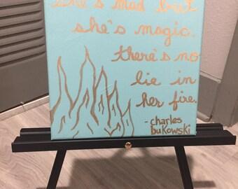 Canvas Wall Art Bukowski quote