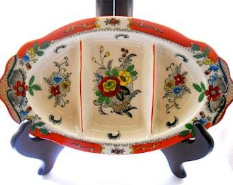 Vintage Porcelain Dish Tashiro Shoten Divided 1930s Pre WWII
