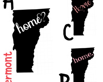Vermont Home Decal