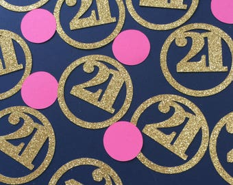 21st  Confetti - Happy 21st Birthday decoration - 30CT.