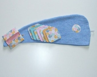 Bath and wipes printed origami pastel Terry turban Lavender