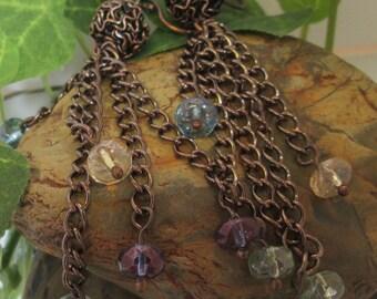 Antiqued Copper Chandelier Earrings