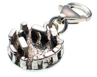 Welded Bliss Sterling 925 Silver Charm Stonehenge Clip Fit WBC1242