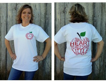 Rockin' New Personalized Teacher Shirt, Heart shirt, teacher shirt, personalized shirt