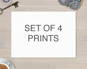 Choose any 4 prints from the shop, custom made collection.