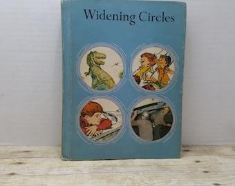 Widening Circles, 1970, Bookmark Reading Program, vintage schoolbook