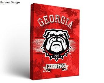 University of Georgia UGA Bulldogs Canvas Wall Art